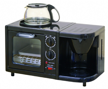 Leisurewize Caravan Low Wattage 3 in1 Combination Oven, Griddle & Coffee Maker